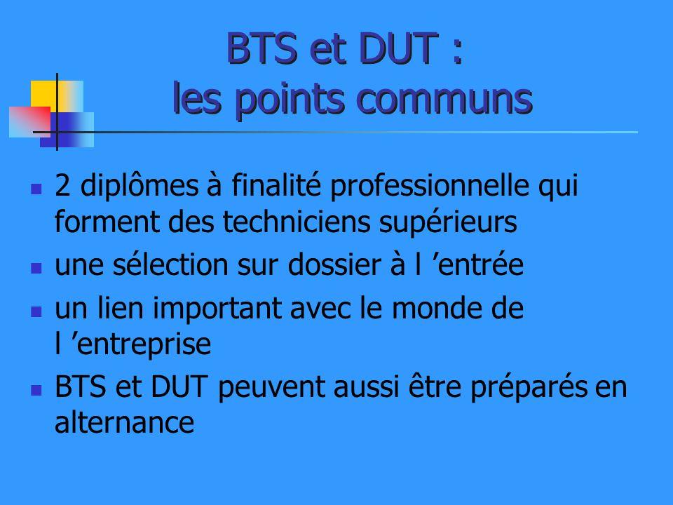 BTS et DUT : les points communs