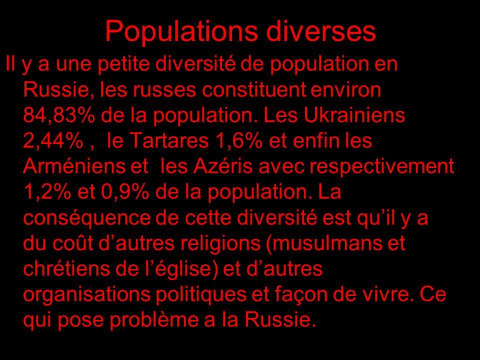 Populations diverses