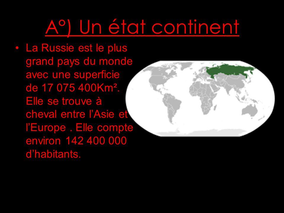 A°) Un état continent