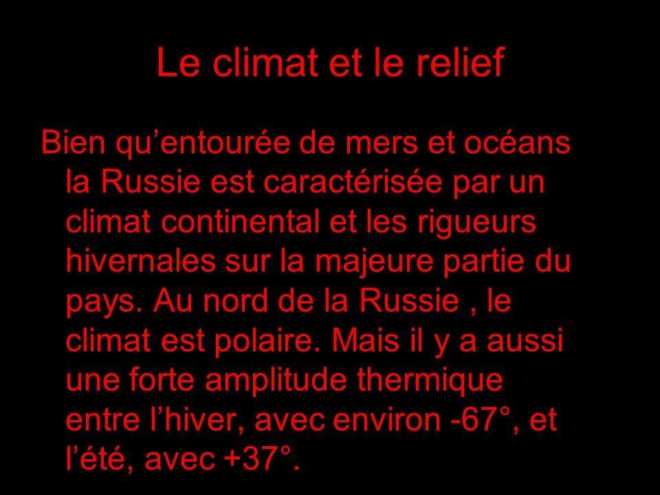Le climat et le relief