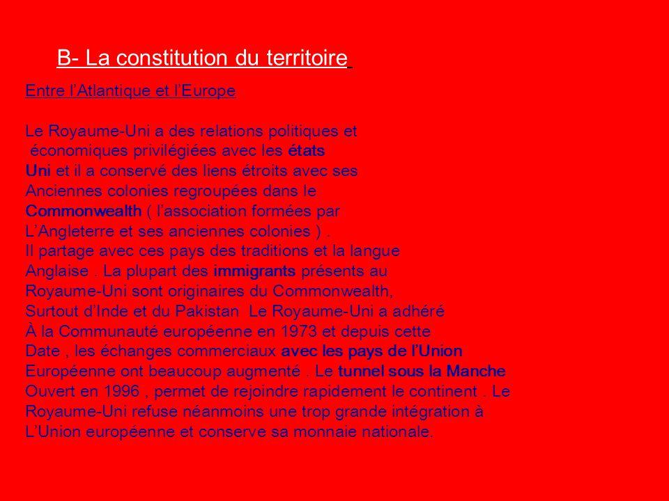 B- La constitution du territoire