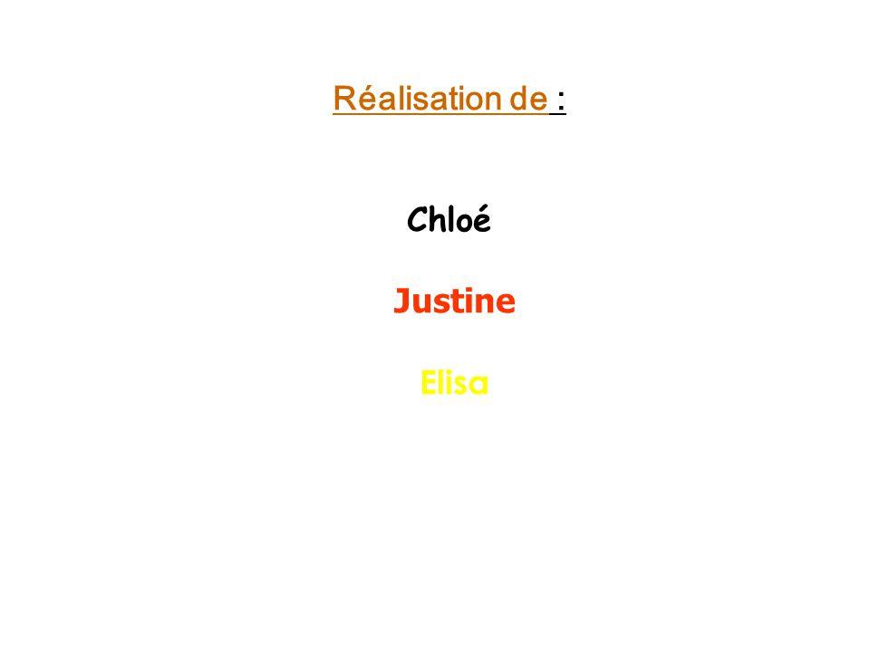 Réalisation de : Chloé Justine Elisa