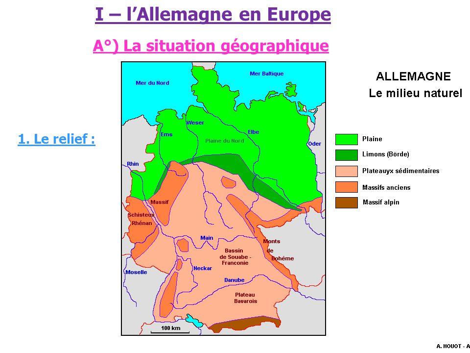 I – l'Allemagne en Europe A°) La situation géographique