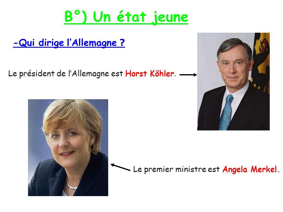 B°) Un état jeune -Qui dirige l'Allemagne