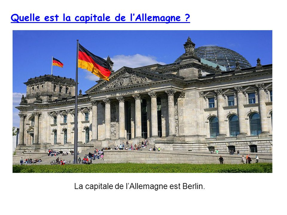 Quelle est la capitale de l'Allemagne