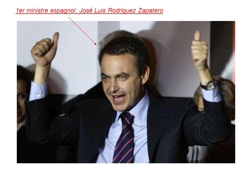 1er ministre espagnol: José Luis Rodriguez Zapatero