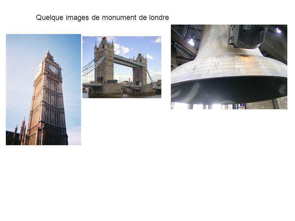 Quelque images de monument de londre