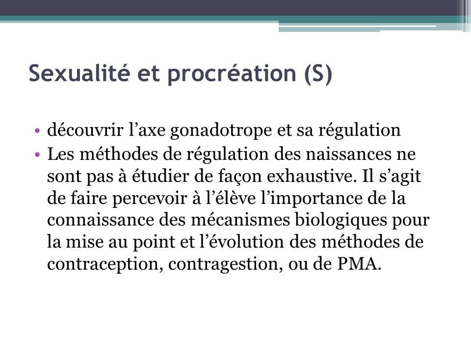 Sexualité et procréation (S)
