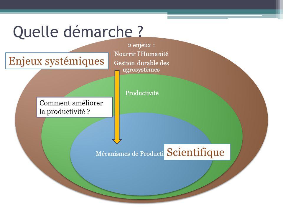 Quelle démarche Enjeux systémiques Scientifique Comment améliorer