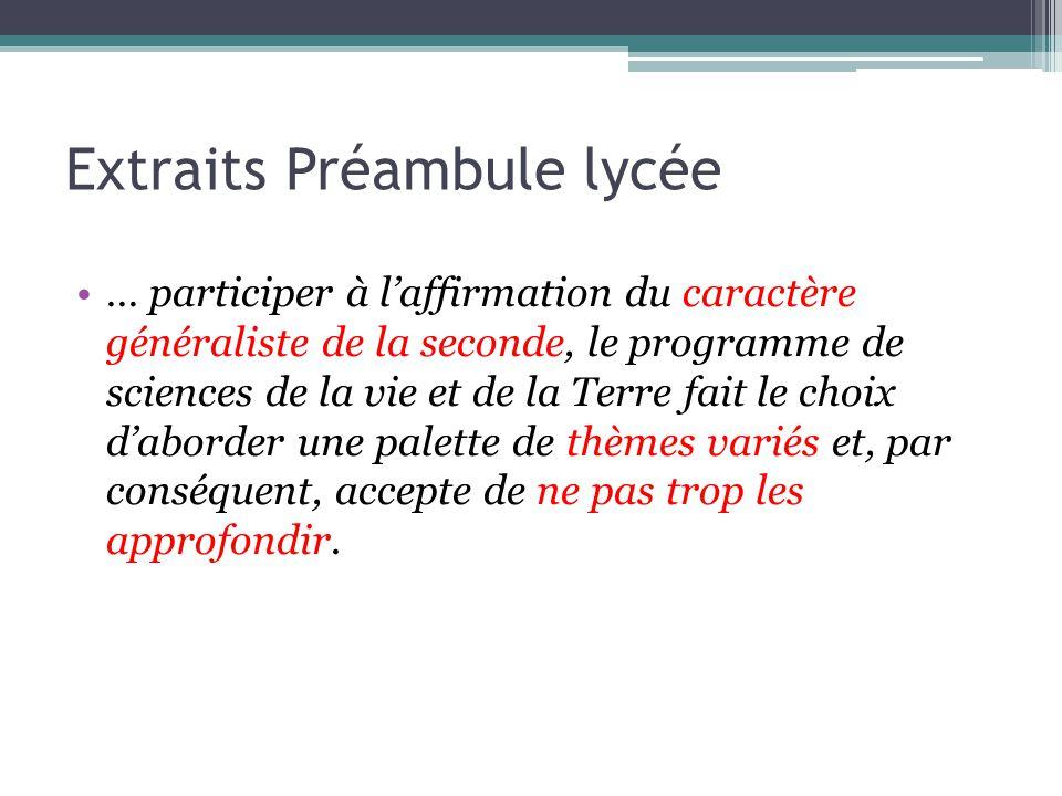 Extraits Préambule lycée