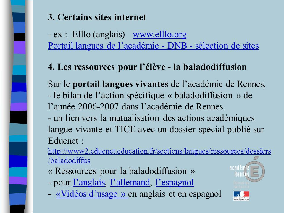 3. Certains sites internet