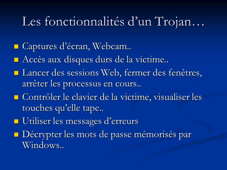 Les fonctionnalités d'un Trojan…