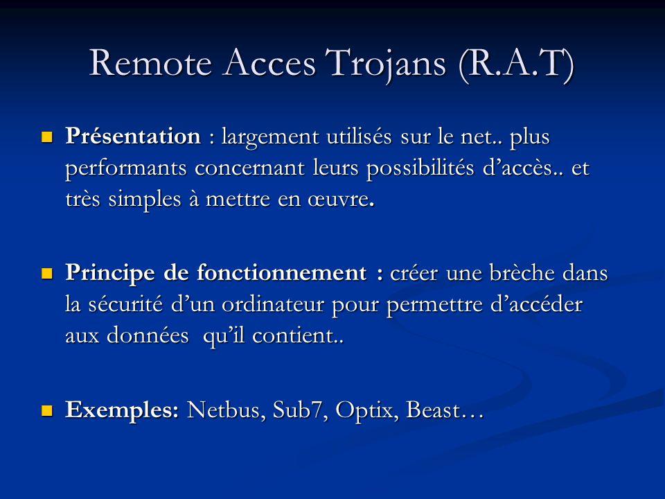 Remote Acces Trojans (R.A.T)