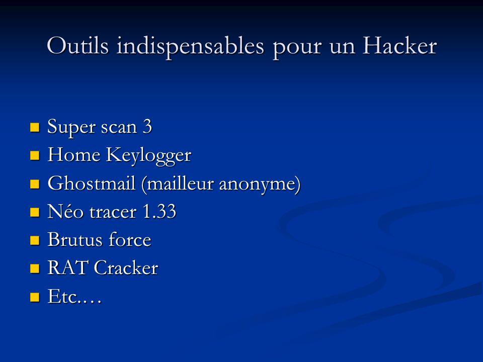 Outils indispensables pour un Hacker