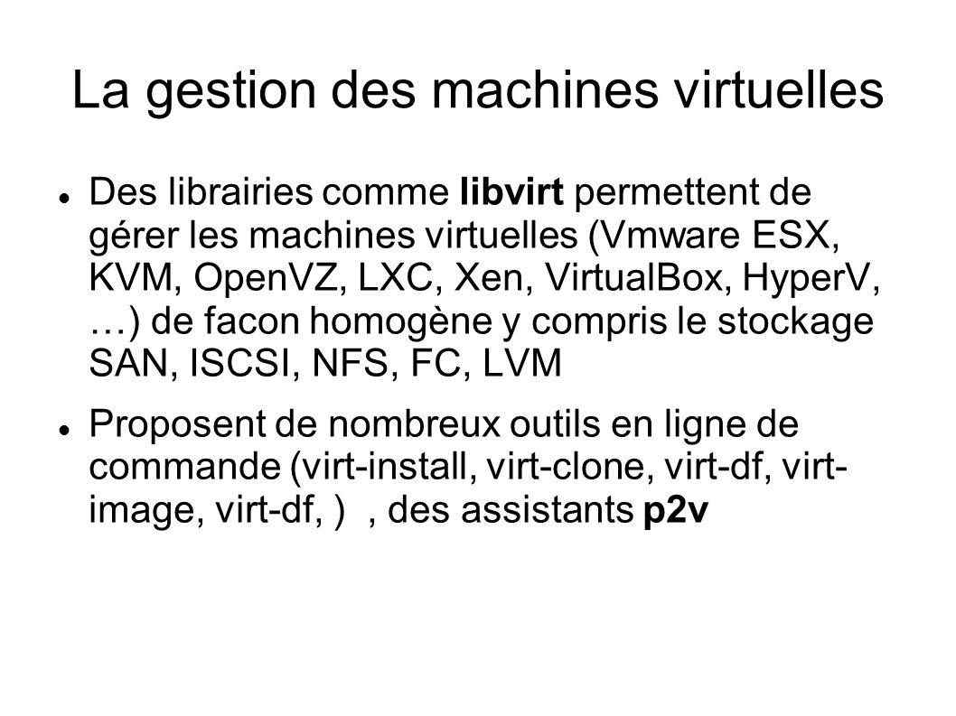 La gestion des machines virtuelles