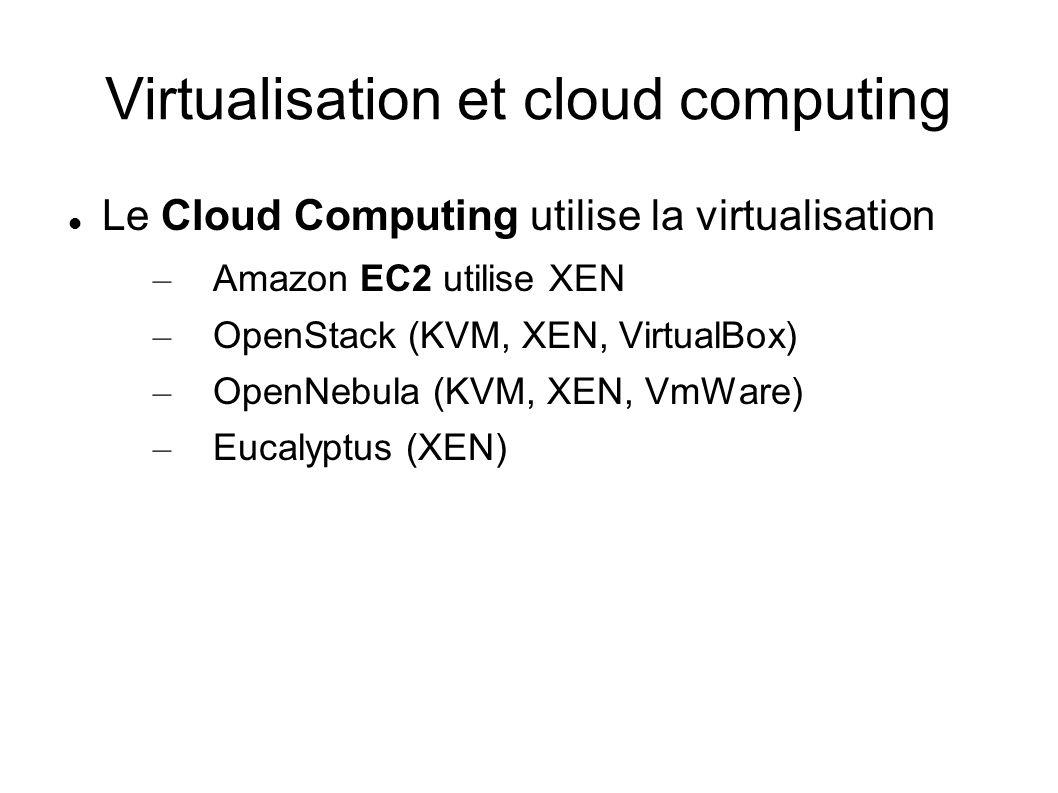 Virtualisation et cloud computing