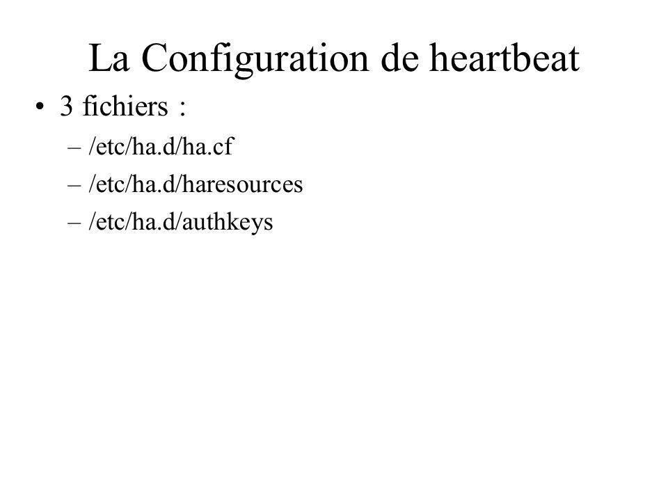 La Configuration de heartbeat