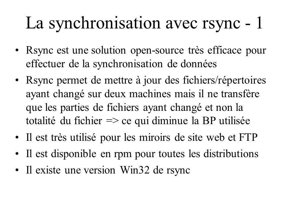 La synchronisation avec rsync - 1
