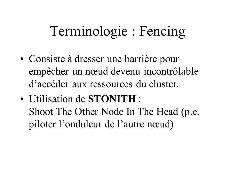 Terminologie : Fencing