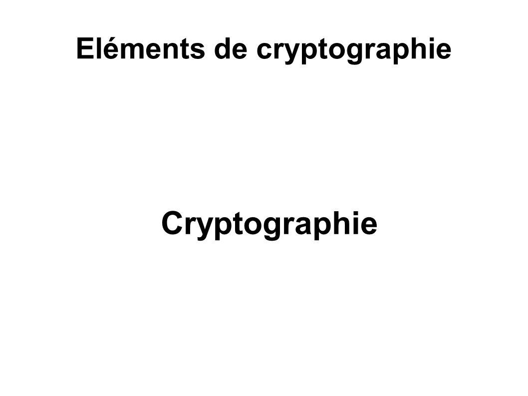 Eléments de cryptographie
