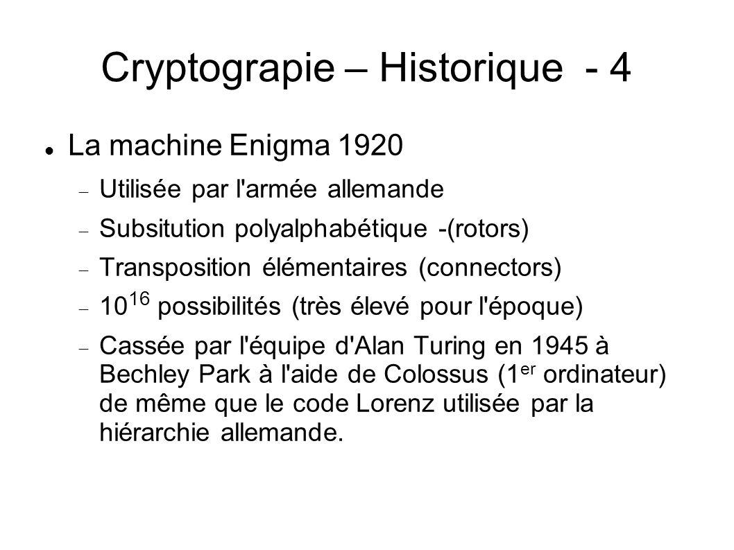 Cryptograpie – Historique - 4