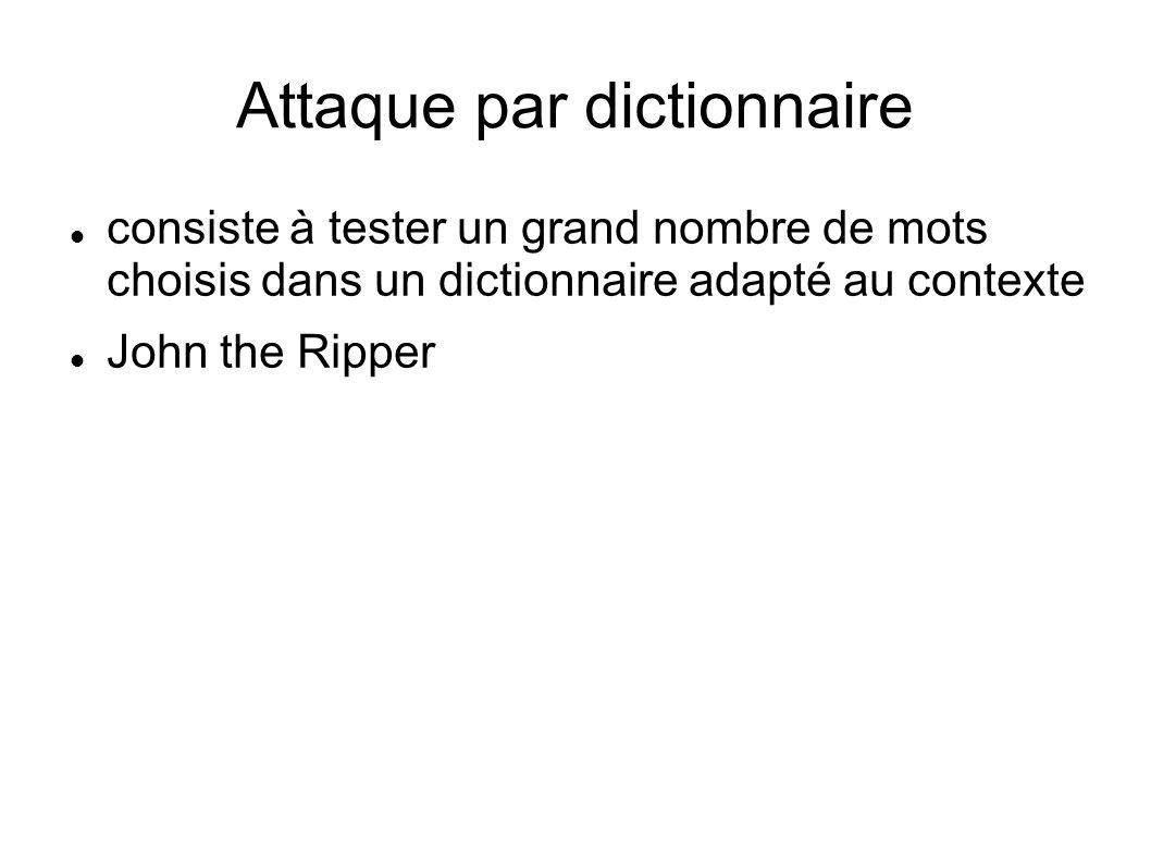Attaque par dictionnaire