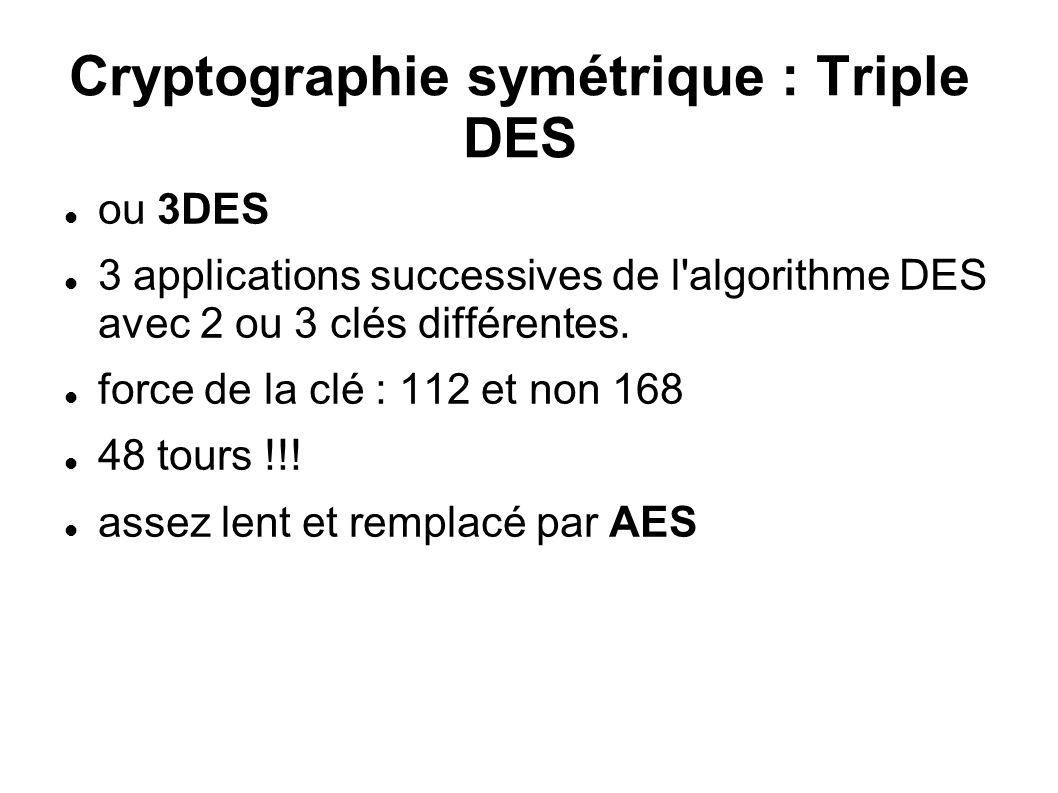 Cryptographie symétrique : Triple DES