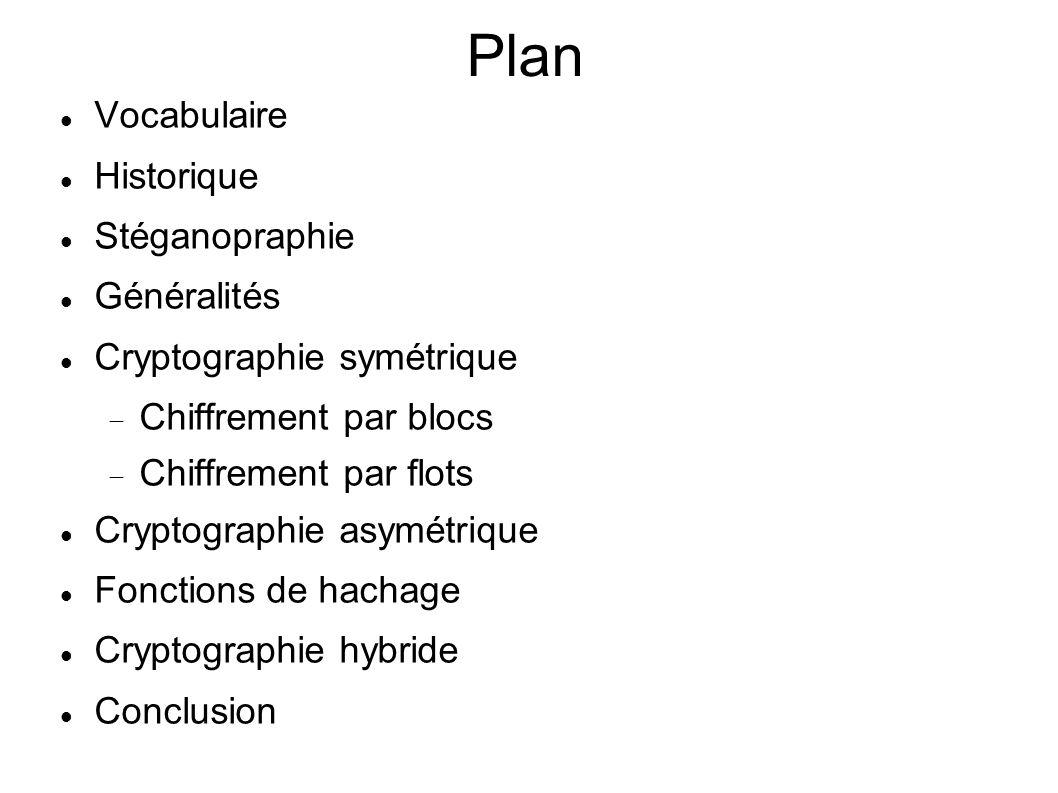Plan Vocabulaire Historique Stéganopraphie Généralités