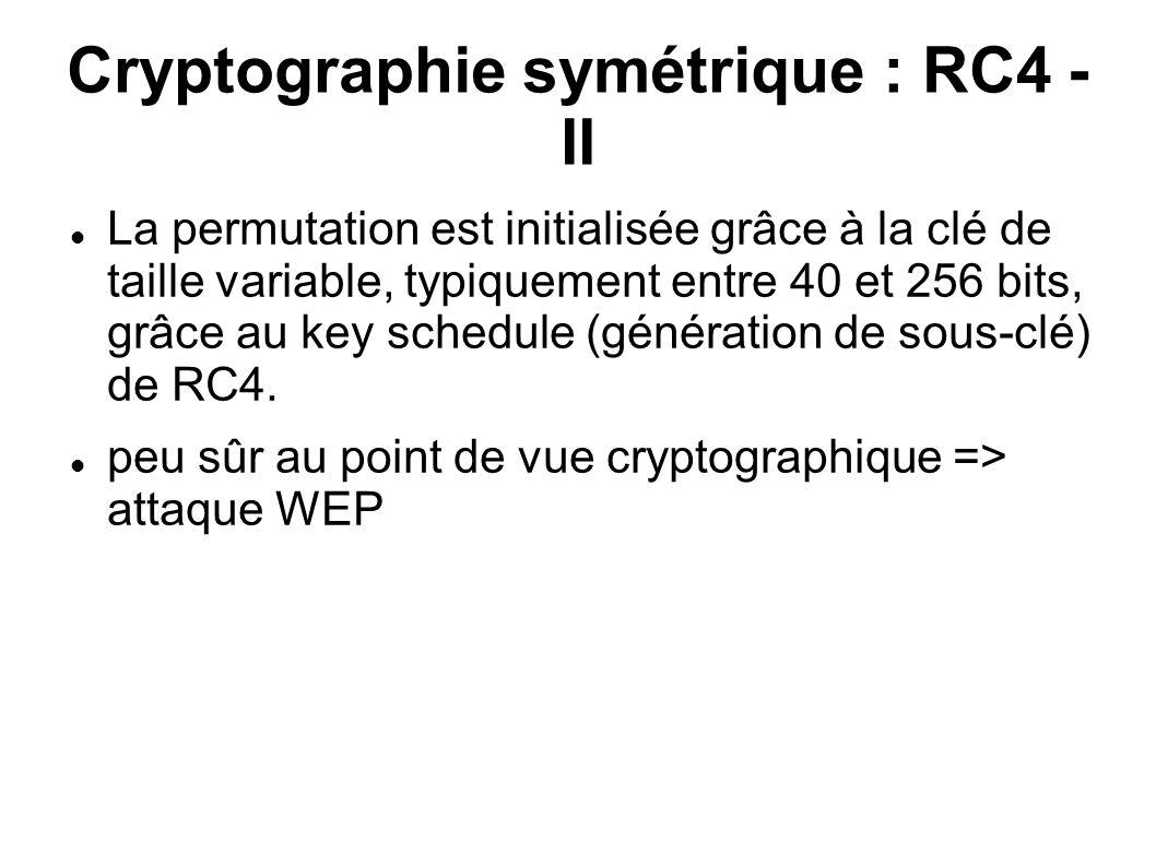 Cryptographie symétrique : RC4 - II