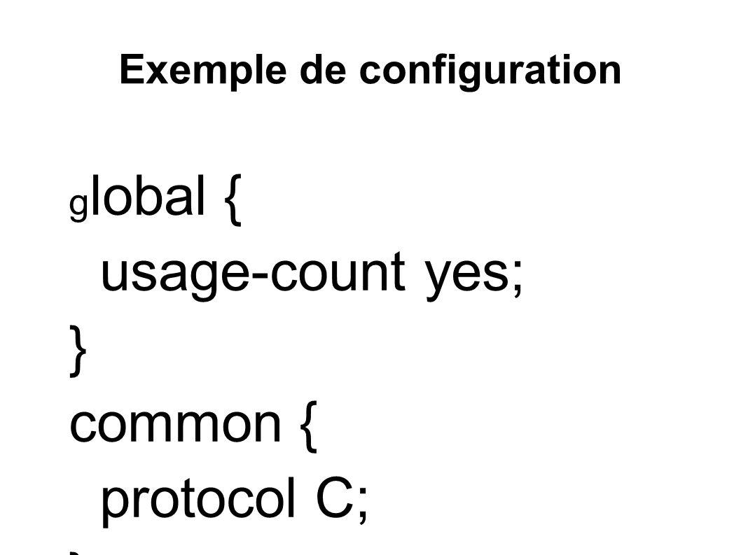 Exemple de configuration