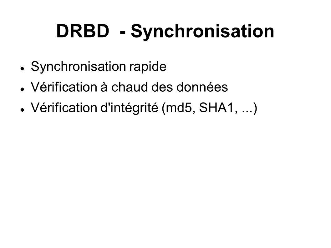 DRBD - Synchronisation