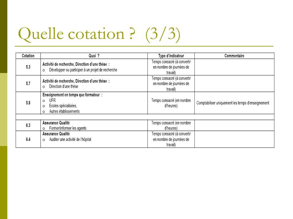 Quelle cotation (3/3)