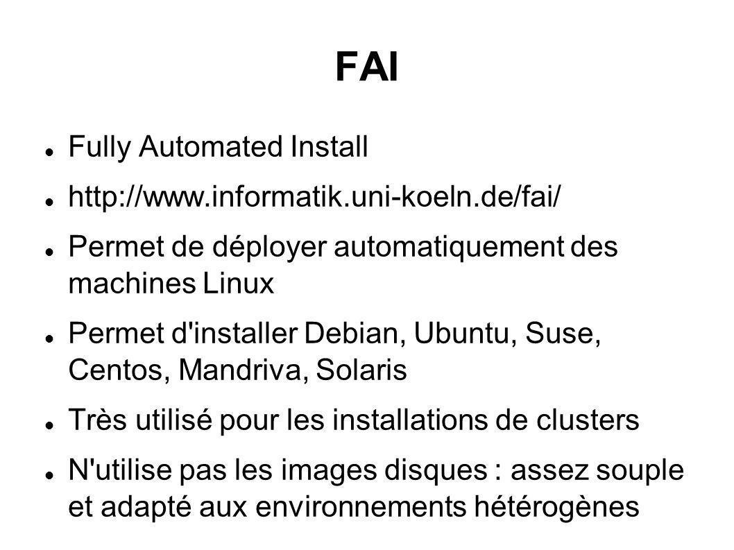FAI Fully Automated Install http://www.informatik.uni-koeln.de/fai/