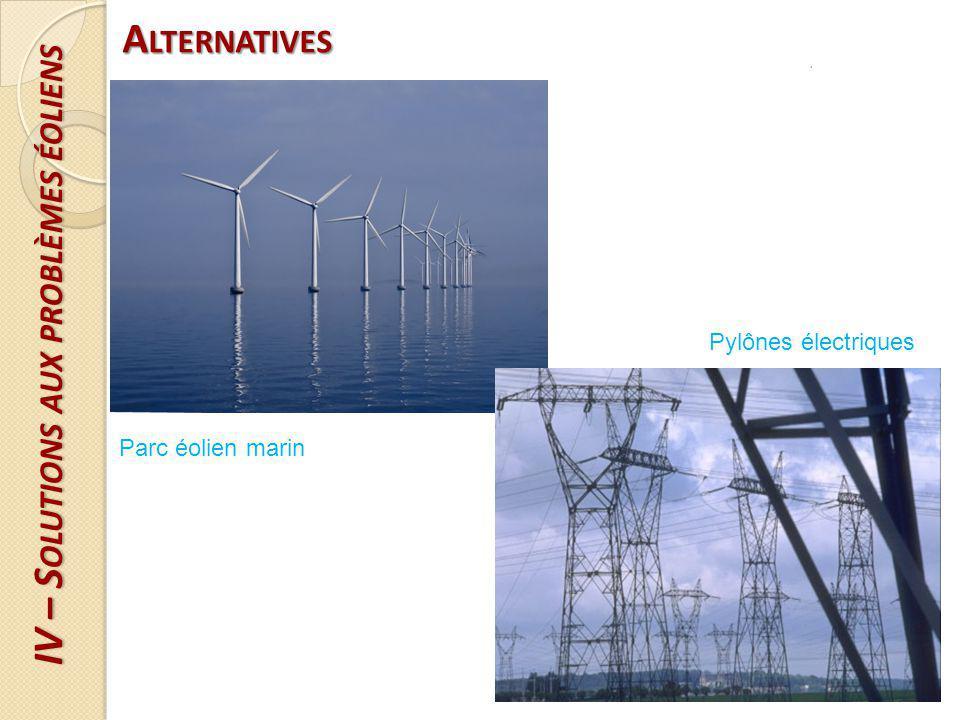 IV – Solutions aux problèmes éoliens