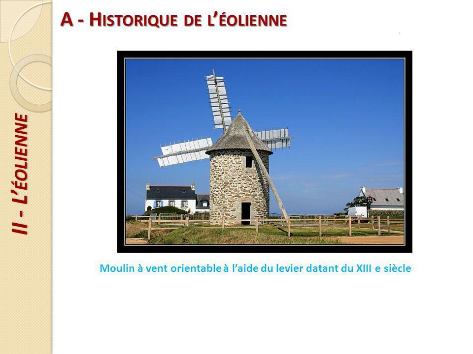 A - Historique de l'éolienne