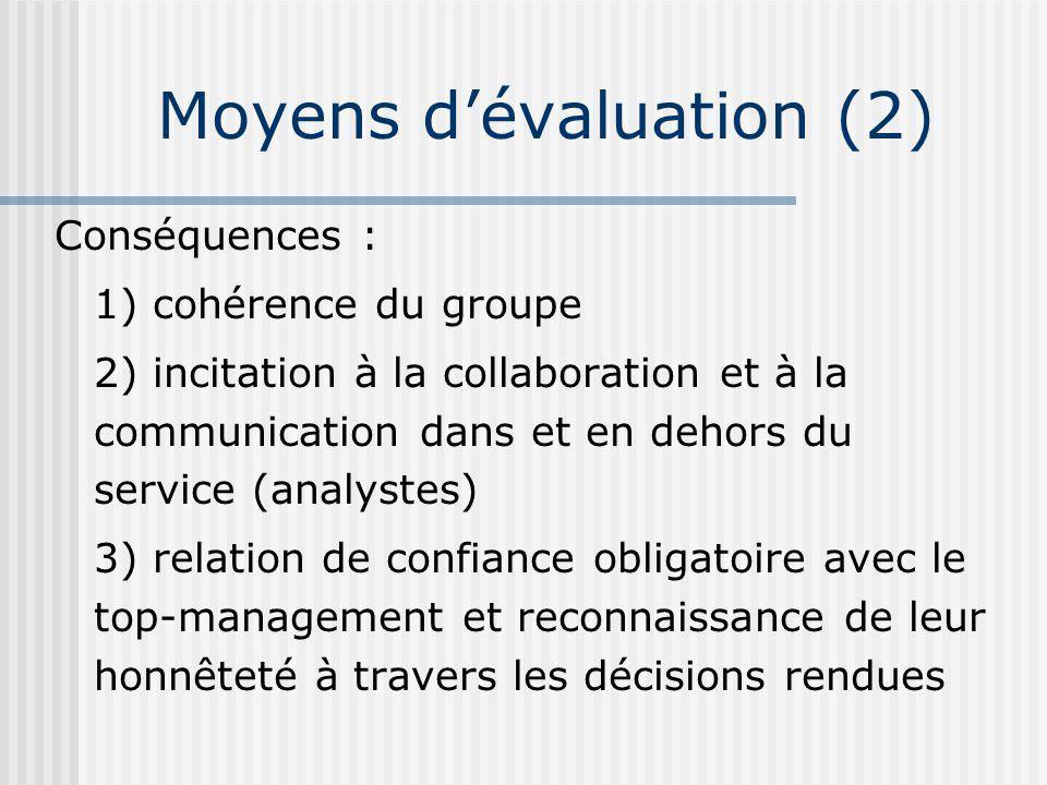 Moyens d'évaluation (2)