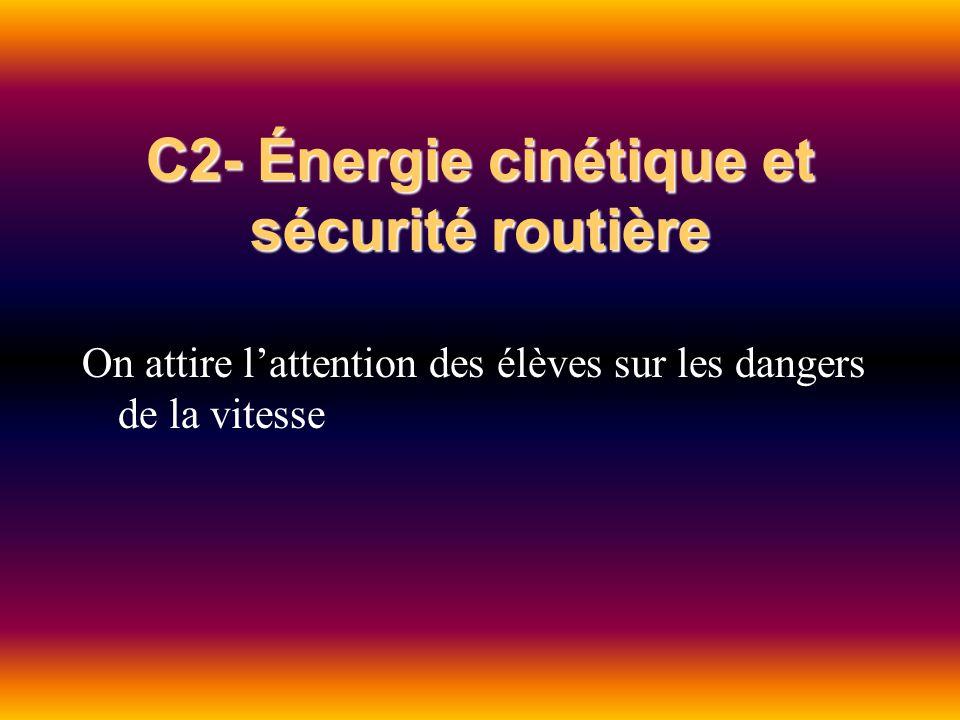 C2- Énergie cinétique et sécurité routière