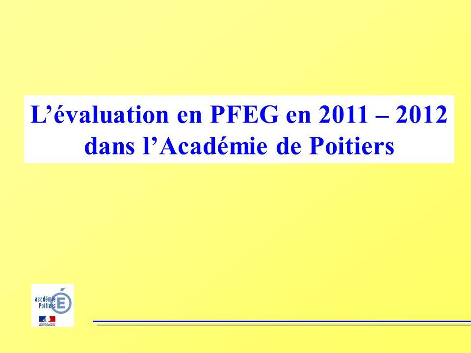L'évaluation en PFEG en 2011 – 2012 dans l'Académie de Poitiers