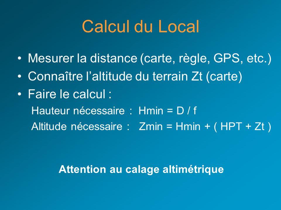 Attention au calage altimétrique