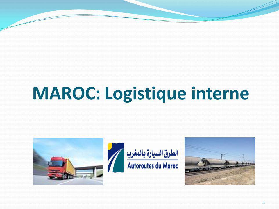 MAROC: Logistique interne