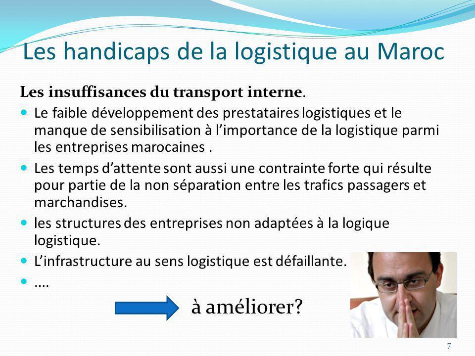 Les handicaps de la logistique au Maroc