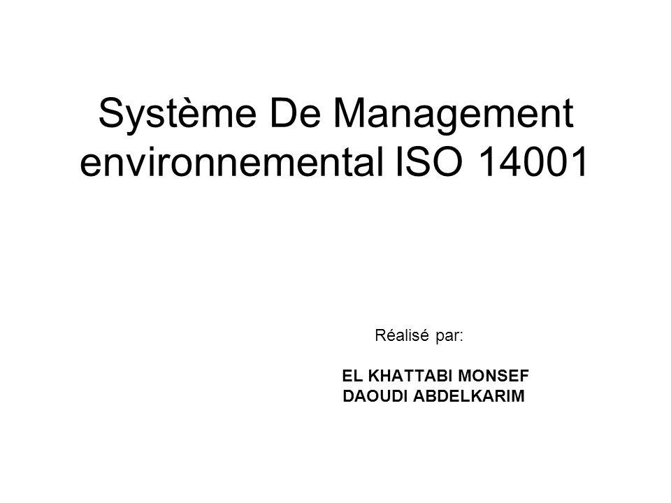 Système De Management environnemental ISO 14001