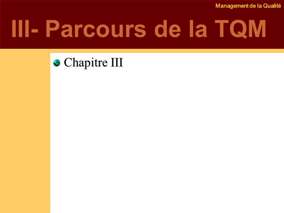 III- Parcours de la TQM Chapitre III