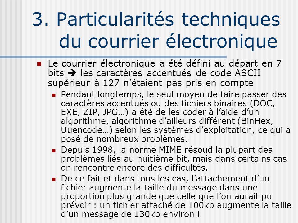 3. Particularités techniques du courrier électronique