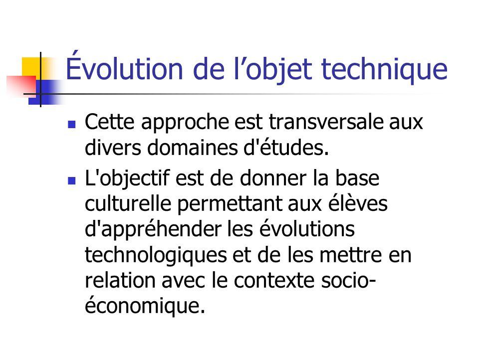 Évolution de l'objet technique