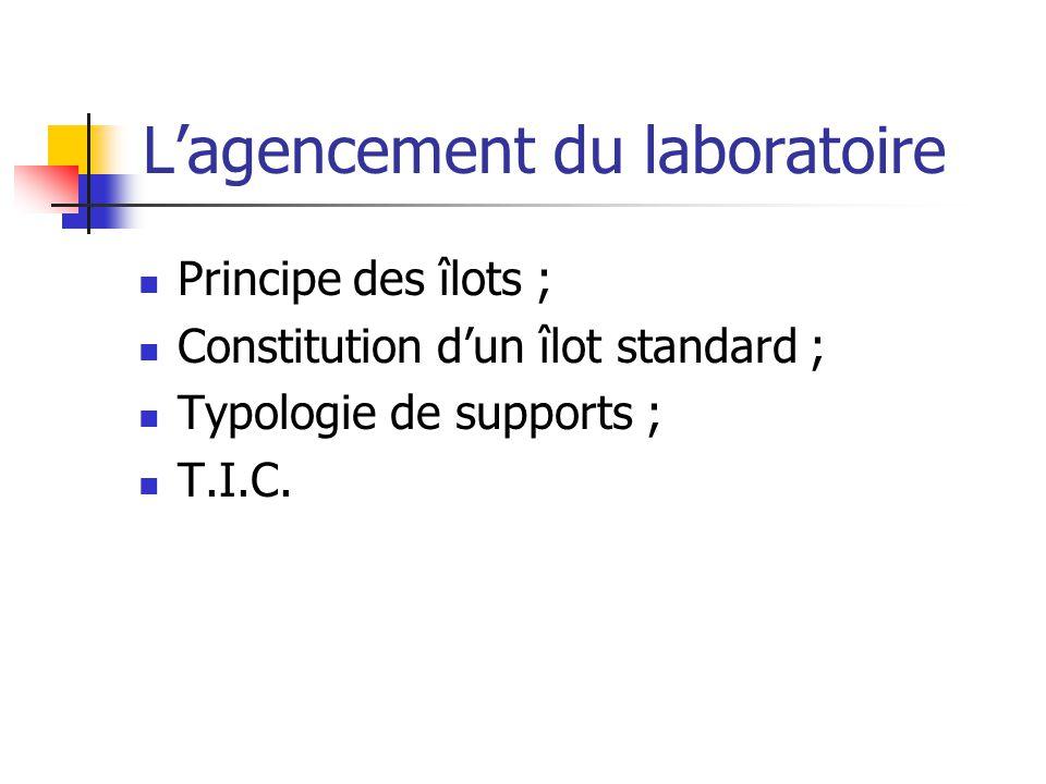 L'agencement du laboratoire