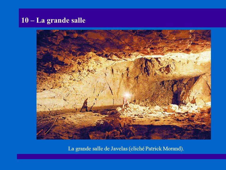 La grande salle de Javelas (cliché Patrick Morand).