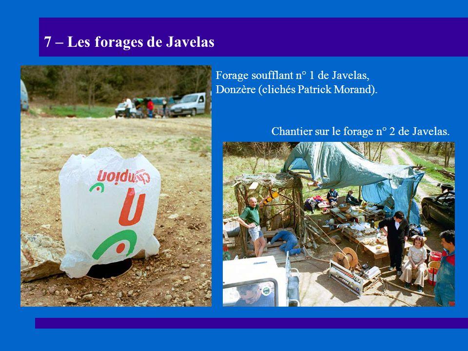 7 – Les forages de Javelas