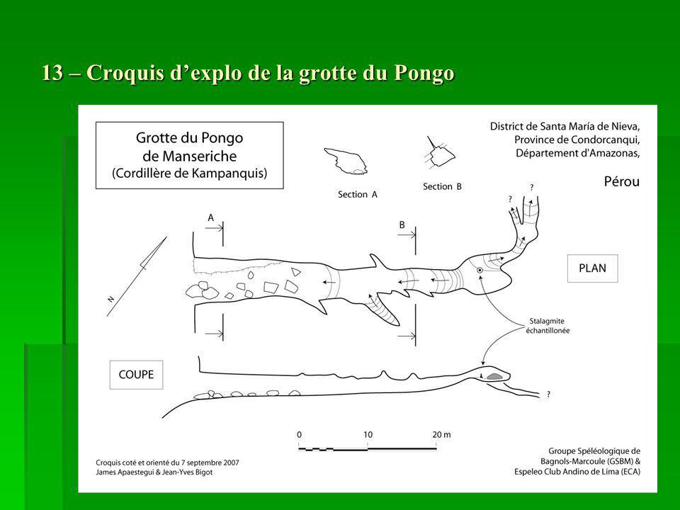 13 – Croquis d'explo de la grotte du Pongo