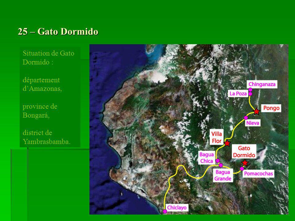 25 – Gato Dormido Situation de Gato Dormido : département d'Amazonas,